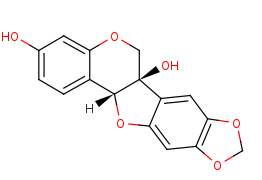 Picture of (+)-6a-hydroxymaackiain (click for magnification)