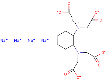 Picture of Sodium 1,2-cyclohexanediamine-N,N,N',N'-tetraacetic acid (click for magnification)