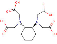 Picture of trans-1,2-cyclohexanediamine-N,N,N',N'-tetraacetic acid (click for magnification)