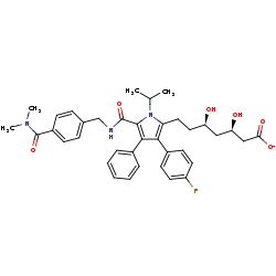 BRENDA - Ligand view of (3R,5R)-7-[5-[[4-(dimethylcarbamoyl)benzyl
