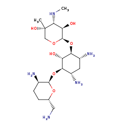 Picture of gentamicin C1a (click for magnification)