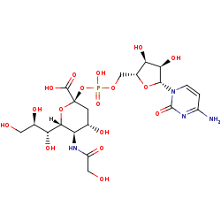 Picture of CMP-N-glycoloylneuraminate (click for magnification)